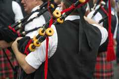 The man with the bagpipes Stock Images