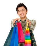 Man with bags Royalty Free Stock Image