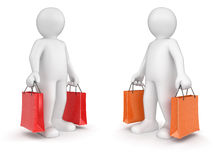 Man and bags (clipping path included) Royalty Free Stock Image