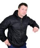 Man in balack jacket Stock Photography