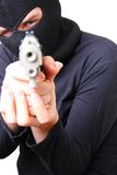 Man in balaclava with gun Stock Photos