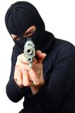 Man in balaclava with gun Royalty Free Stock Image