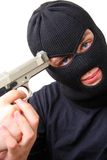 Man in balaclava with gun Royalty Free Stock Photos
