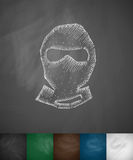 Man in balaclava icon Royalty Free Stock Images