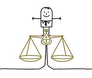 Man & balance, justice Stock Photo