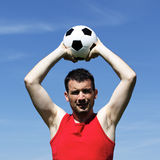 Man with ball Royalty Free Stock Photography