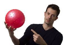 Man with a ball Stock Images