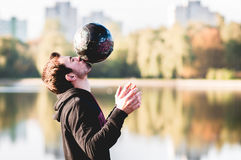 The man with the ball Royalty Free Stock Photography