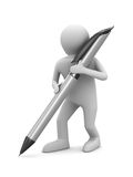 Man with ball pen on white background Royalty Free Stock Image