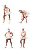 The man in ballet tutu Royalty Free Stock Photo