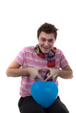 Man with balloon Stock Photo