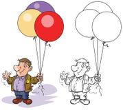 Man Balloon seller. Royalty Free Stock Photo