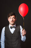 Man with balloon Stock Photography