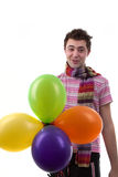 Man with balloons Royalty Free Stock Photos