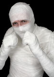 Man in bandage Stock Images