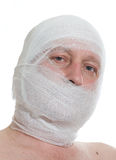 Man with bandage on head Stock Photography