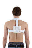 Man with a bandage on his back Stock Photography