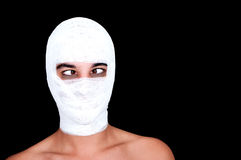 Man with a bandaged head Stock Photo