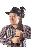 Man with a banjo Stock Photography