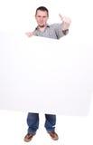 Man with banner Stock Photos