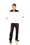 Man with banner Royalty Free Stock Photos