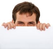Man with a banner Stock Image