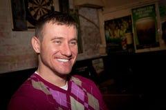 Man at a Bar stock photo