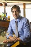Man at bar. Royalty Free Stock Images