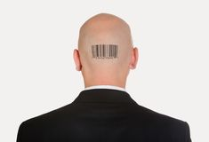 Man with bar code Royalty Free Stock Images