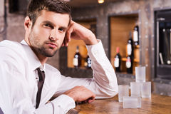Man in bar. Stock Photos
