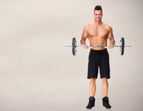 Man with barbell. Stock Photography
