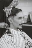 Man at the barber shop Stock Photos