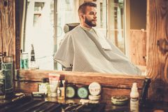 Man in a barber shop. Stylish man in a barber shop Stock Photos