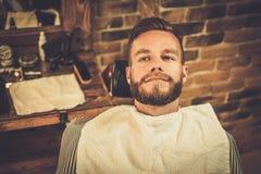 Man in a barber shop Stock Photos