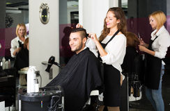 Man in the barbershop Royalty Free Stock Photo