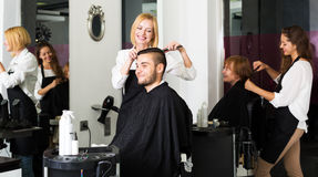 Man in the barbershop Royalty Free Stock Image