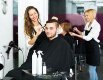 Man in the barbershop Stock Images