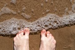 Man bare feet Royalty Free Stock Photos