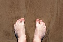 Man bare feet 1 Stock Images