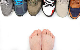 Man bare foot Stock Images