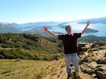 Man Bariloche Nature Patagonia Royalty Free Stock Image