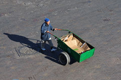 Man with barrow in Marrakesh Stock Photos