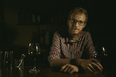 Man bartender stock photos