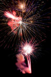 Man at Base of Fireworkd Stock Photos