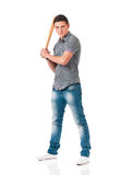 Man with baseball bat Royalty Free Stock Image