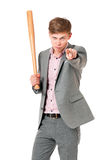 Man with baseball bat Royalty Free Stock Image