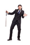 Man with baseball bat isolated Royalty Free Stock Photography