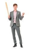Man with baseball bat Royalty Free Stock Photography