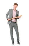 Man with baseball bat Stock Photo