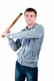 Man with baseball bat Royalty Free Stock Photo